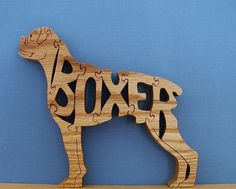Boxer Pet Puzzle Cut On Scroll Saw