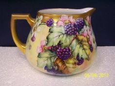 Limoges Bavarian Cidar Pitcher with Blackberries - just got one with a very similar pattern at a thrift store for $7