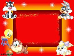 Baby Looney Tunes: Free Printable Invitations or Cards.