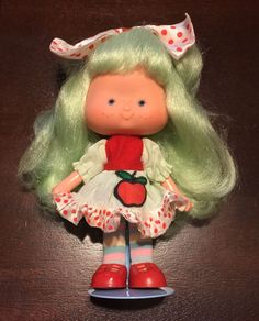 Vintage Brazilian Strawberry Shortcake Little Apple New Wave Series Brazil Doll #Dolls