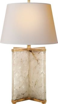 cameron quartz table lamp. Luscious lighting - Live lusciously with LUSCIOUS: www.myLusciousLife.com