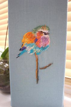 Won BEST USE OF COLOUR at the National Needlecraft awards 2018 WANT A CUSTOM BIRD CANVAS? - CONTACT ME FOR PRICING