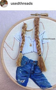 Sternennacht Sternbild Hoop Art, Big Dipper North Star … – The World Silk Ribbon Embroidery, Hand Embroidery Designs, Diy Embroidery, Cross Stitch Embroidery, Embroidery Techniques, Textile Art, Sewing Crafts, Needlework, Creations