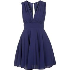 TFNC Nordi Navy Dress (€41) ❤ liked on Polyvore featuring dresses, vestidos, tfnc dress, tfnc, navy cocktail dress, navy dress and blue dress