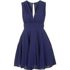 TFNC Nordi Navy Dress (€41) ❤ liked on Polyvore featuring dresses, vestidos, tfnc dress, tfnc, navy cocktail dress, navy dress and blue dress