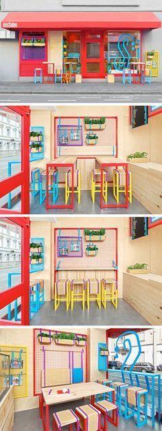 Masquespacio hat das Interieur und das Branding für ein Meditteranean Take away Restaurant namens Kessalao mit Sitz in Bonn entworfen.  | www.bocadolobo.com #bocadolobo #Einrichtungsideen #exklusivesdesign  #designideen #designinspirationen  #wohnideen #luxusmöbel #innenarchitektur