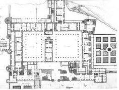 1626. Floor plan of the Alcazar of Madrid by Juan Gómez de Mora