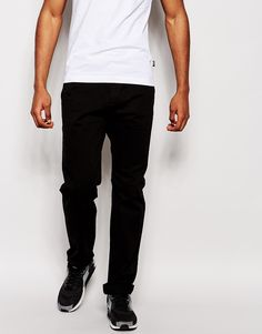 """Chinos by Love Moschino Soft-touch cotton Added stretch for comfort Concealed zip fly Two front and two back pockets Tapered leg Slim fit - cut closely to the body Machine wash 97% Cotton, 3% Elastane Our model wears a size Medium and is 188cm/6'2"""" tall"""