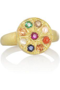 Pippa Small 18-karat gold multi-stone ring | NET-A-PORTER