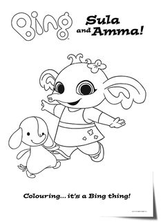 Printable coloring pages for kids Bing Bunny 2 Bunny Coloring Pages, Online Coloring Pages, Disney Coloring Pages, Colouring Pages, Coloring Pages For Kids, Coloring Sheets, Coloring Books, Kids Coloring, Bunny Birthday