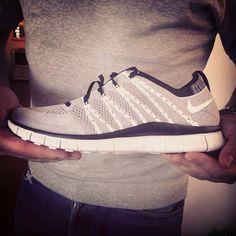 Nike HTM Flyknit Free   Grey   Black