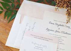 Pink and Silver Wedding Invitations