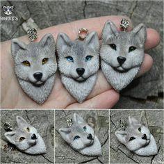 """281 Me gusta, 2 comentarios - Анна Примак (Snorky's) (@snorky_anna) en Instagram: """"Небольшая стайка волков, продаются в группе вк)  #polymer_clay #polymerclay #handmade  #wolf…"""""""