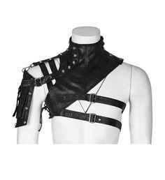 Gothic- / LARP- /Mittelalter-Kragen Falcon mit Oberarm-Tasche