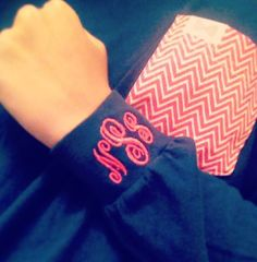 Frat collection and monogrammed sleeve