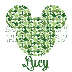 Printable DIY Mickey Mouse St. Patrick's Day digital clip art, iron on transfer for t-shirts by My Heart Has Ears
