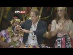 Day 8 Diamond Jubilee Tour: Prince William & Kate Middleton dance in Tuvalu. William is hilarious!. - 18 Sept 2012