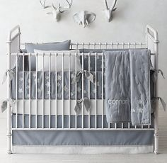 Little Star Appliqué & Classic Stripe Print Nursery Bedding Collection