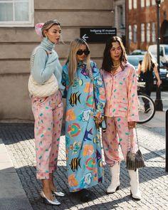 Quirky Fashion, Timeless Fashion, Fashion Looks, Copenhagen Street Style, Copenhagen Fashion Week, Kimono Design, Spring Street Style, Fashion Prints, Fashion Design