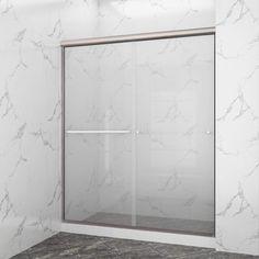 SUNNY SHOWER Frameless Glass Sliding Shower Door, B020-6072CB Framed Shower Door, Frameless Sliding Shower Doors, Glass Shower Doors, Bathtub Doors, Laminated Glass, Safety Glass, Wood Bridge, Panel Doors, Christmas Home