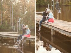 An Outdoor Engagement Session in Columbus, GA, dock, lake