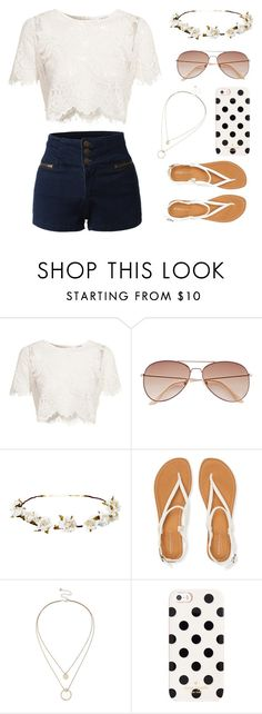 """""""Untitled #5"""" by breanna113 ❤ liked on Polyvore featuring Glamorous, H&M, Cult Gaia, Aéropostale, Sole Society, Kate Spade and LE3NO"""