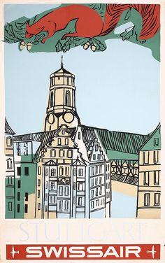 Stuttgart  Original 1950s Germany