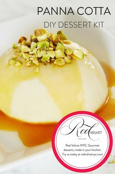 This chilled cream-based dessert is traditionally served with ripe red fruits like raspberries, strawberries, or sweet cherries. However, we give it an exotic twist with passion fruit sauce and crushe                                                                                                                                                                                 More