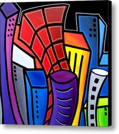 Big City Nights Canvas Print / Canvas Art By Tom Fedro - Fidostudio