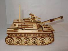 Small tank model plywood laser cut kit or  by MLSLaserEngraving, $18.00