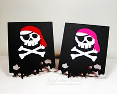 pirates, Silhouette, cards
