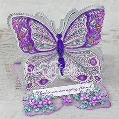 Shaped Cards, Lilac Flowers, Beautiful Handmade Cards, Flower Center, Heartfelt Creations Cards, Flower Shape, Greeting Cards Handmade, Card Sizes, Creative Inspiration
