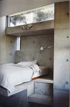 lush bedroom concrete bedroom nook My dream couch Concrete Bedroom, Concrete Interiors, Concrete Walls, Poured Concrete, Concrete Formwork, Concrete Steps, Concrete Furniture, Concrete Art, Plywood Furniture