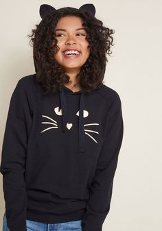 2c37f01800a Whiskers at Night Glow-in-the-Dark Hoodie in 1X