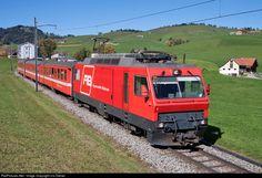 1 Appenzeller Bahnen (Switzerland) Ge at Gontenbad, Switzerland by Urs Diener Location Map, Photo Location, Swiss Railways, Locomotive, Switzerland, Trains, Abs, Image, Crunches