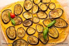 Пицца с хумусом и баклажанами / Pizza with hummus and eggplant