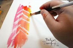 Crayon Resist Background technique from Julie Fei-Fan Balzer