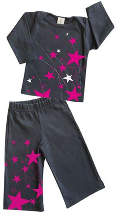 organic cotton infant girl stars set Made in the USA