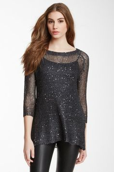 Sequin Chain Knit Sweater by Chaudry
