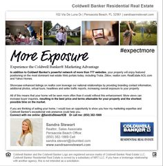 Sellers Experience the Coldwell Banker Marketing Advantage with More Online Exposure for your Property www.sandraannstewart.com