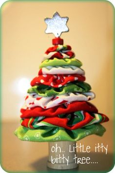 If you're just sitting around today, why not gather some scraps and make this yo yo Christmas tree?   Here's the way it's done:  http://kiwiatheart-leonie.blogspot.com/p/yo-yo-christmas-tree-tutorial.html