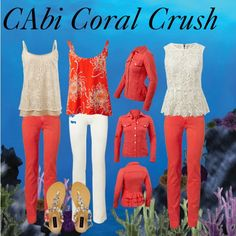 """""""CAbi Spring 2014 Coral Crush"""" by hdawsonfnp on Polyvore"""