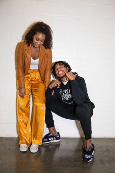 f968087a8305 Sydel Curry Lee and Damion Lee pose after the Golden State Warriors vs  Miami Heat game