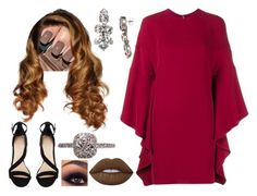 Untitled #4312 by nicole-briffa on Polyvore featuring polyvore fashion style Valentino Gosh Sorrelli Lime Crime clothing