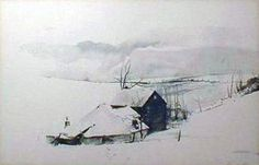 """Limited Edition Print """"Corner"""" by Andrew Wyeth"""