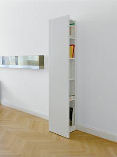 Shelf KAST TWEE in white by Hans de Pelsmacker. / www.e15.com #e15 #herringbone #floor