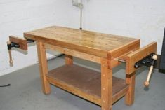 Don't buy, build! Here's a collection of free DIY workbench plans for your woodworking hobby. If you need some ideas to build the bench, look nowhere else. #woodworkingbench