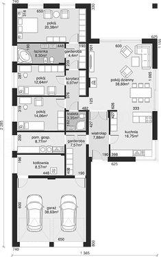 Bungalow Floor Plans, Small House Floor Plans, Lake House Plans, Dream House Plans, Flat House Design, Modern House Design, Architecture Plan, Residential Architecture, Model House Plan