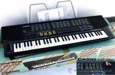 TECLADO PIANO CASIO PROFESIONAL  POP AÑOS 80, A ESTRENAR!  MT 750 UNA JOYA