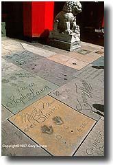 Grauman's Chinese Theatre, Hollywood Blvd. Thinking could do something like this in the backyard with friends. Maybe do at Academy Award party
